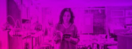 background image - woman reading